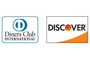 Discover and Diners logo