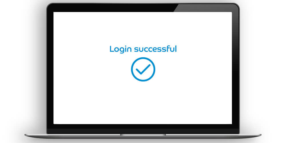 Logging in to corporate online servicing