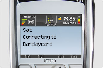Authorisation on desktop connecting to Barclaycard