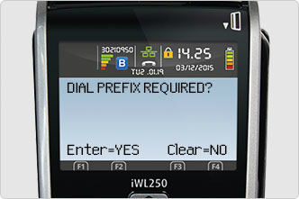 Dial Prefix Required screen message