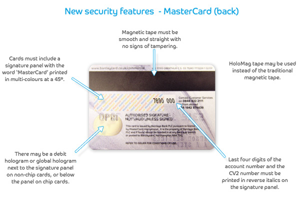 Mastercard's back security features