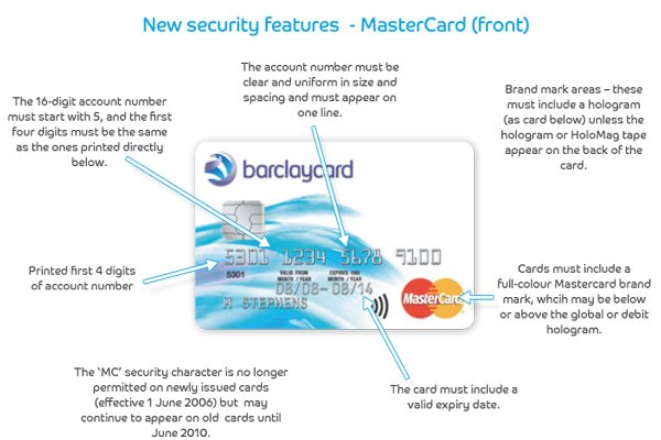 Mastercard's front security features