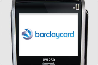Screens lights up when charged on Barclaycard portable card machine