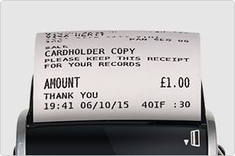 Card machine prints a cardholder receipt