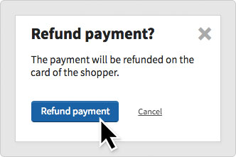 The refund popup