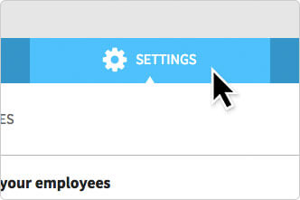 The Settings tab