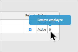 The Remove employee button