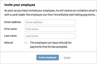The Employee information popup