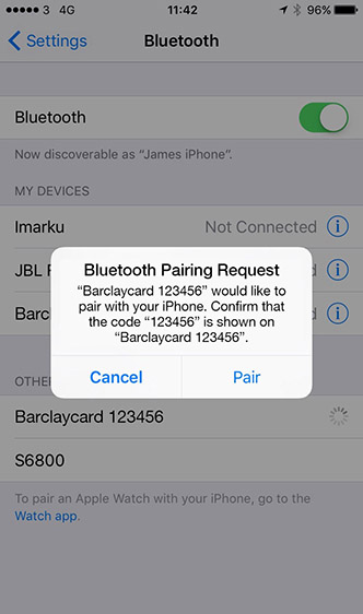 The pair button in your devices Bluetooth settings.