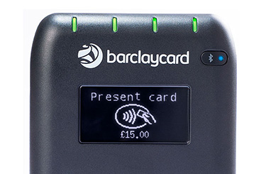 The Anywhere card reader asks the customer to present, or insert or swipe, a card.