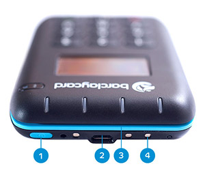 The Anywhere card reader, top view.