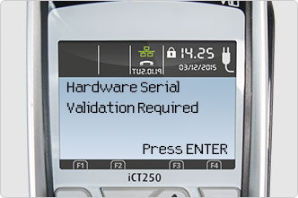 Hardware Serial Validation Required screen message