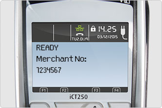 Return to ready screen on card machine