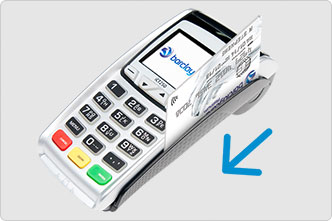 swipe payment card into card machine