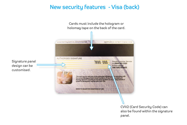 Visa's back security features