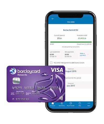 Barclaycard Reward Credit Card and Barclays mobile banking app